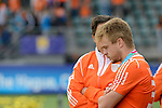 The Hague, Netherlands, June 15: A disappointed Mink van der Weerden #30 of The Netherlands looks down during the prize giving ceremony on June 15, 2014 during the World Cup 2014 at Kyocera Stadium in The Hague, Netherlands. (Photo by Dirk Markgraf / www.265-images.com) *** Local caption ***