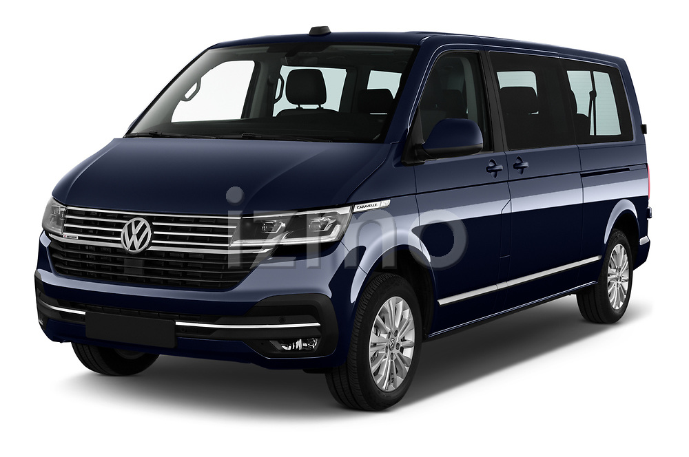 2020 Volkswagen Caravelle Highline 5 Door Passenger Van Angular Front automotive stock photos of front three quarter view