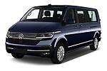 2020 Volkswagen Caravelle Highline 5 Door Passenger Van Angular Front automotive stock photos of front three quarter view