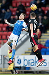 St Johnstone v Partick Thistle…27.01.18…  McDiarmid Park…  SPFL<br />Denny Johnstone and Baily Cargill<br />Picture by Graeme Hart. <br />Copyright Perthshire Picture Agency<br />Tel: 01738 623350  Mobile: 07990 594431