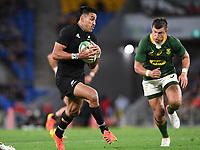 2nd October 2021, Cbus Super Stadium, Gold Coast, Queensland, Australia;   Rieko Ioane. New Zealand All Blacks versus South Africa Springboks.The Rugby Championship. Rugby Union test match.