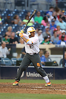 Max Guzman (27) of the East team bats during the 2015 Perfect Game All-American Classic at Petco Park on August 16, 2015 in San Diego, California. The East squad defeated the West, 3-1. (Larry Goren/Four Seam Images)