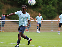 Pedro Lubamba (29) of Union in action during the warm up before a preseason friendly soccer game between Tempo Overijse and Royale Union Saint-Gilloise, Saturday 29th of June 2021 in Overijse, Belgium. Photo: SPORTPIX.BE   SEVIL OKTEM