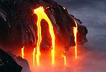 Lava flows entering the ocean, Hawaii Volcanoes National Park, Hawaii