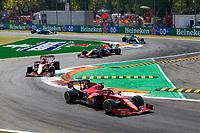 12th September, September 2021; Nationale di Monza, Monza, Italy; FIA Formula 1 Grand Prix of Italy, 16 Charles Leclerc MON, Scuderia Ferrari Mission Winnow, F1 Grand Prix of Italy at Autodromo Nazionale Monza