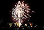 TORRINGTON CT. 11 July 2015-071115SV10-Fireworks go off at the middle school inTorrington Saturday.<br /> Steven Valenti Republican-American