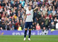 3rd October 2021; Tottenham Hotspur Stadium. Tottenham, London, England; Premier League football, Tottenham versus Aston Villa: Eric Dier of Tottenham Hotspur gives directions