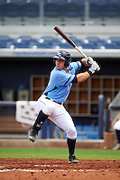 Charlotte Stone Crabs designated hitter Jace Conrad (23) at bat during a game against the Dunedin Blue Jays on July 26, 2015 at Charlotte Sports Park in Port Charlotte, Florida.  Charlotte defeated Dunedin 2-1 in ten innings.  (Mike Janes/Four Seam Images)
