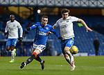 13.02.2021 Rangers v Kilmarnock: Ryan Kent amd Aaron McGowan
