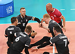 Austin Hinchey, Mickael Bartholdy, Darek Symonowics, Doug Learoyd, Bryce Foster, Jesse Ward, and Jesse Buckingham, Lima 2019 - Sitting Volleyball // Volleyball assis.<br />