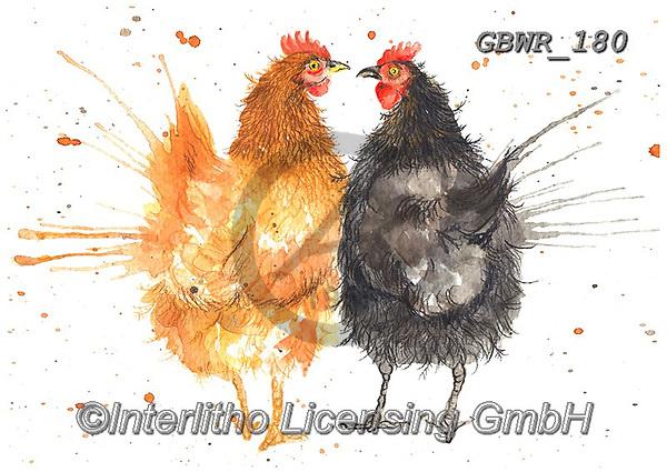 Simon, REALISTIC ANIMALS, REALISTISCHE TIERE, ANIMALES REALISTICOS, innovative, paintings+++++KatherineWilliams_SplatterHens,GBWR180,#a#, EVERYDAY