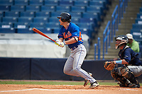 Jake Slaughter (23) of Ouachita Christian School in Monroe, Louisiana playing for the New York Mets scout team during the East Coast Pro Showcase on July 30, 2015 at George M. Steinbrenner Field in Tampa, Florida.  (Mike Janes/Four Seam Images)