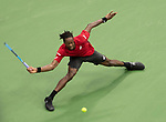 September 4,2019:   Gael Monfils (FRA) loses to Matteo Berrettini (ITA) 6-3, 6-2, 3-6, 7-6, at the US Open being played at Billie Jean King National Tennis Center in Flushing, Queens, NY.  ©Jo Becktold/CSM