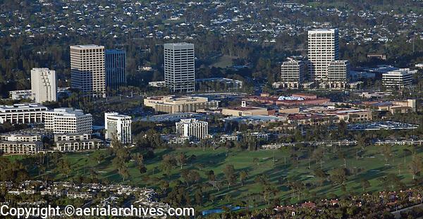 aerial photograph of Newport Center, Orange County, California