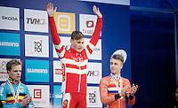 Men Juniors Podium:<br /> 1/ Simon Andreassen (DEN)<br /> 2/ Eli Iserbyt (BEL)<br /> 3/ Max Gulickx (NLD)<br /> <br /> 2015 UCI World Championships Cyclocross <br /> Tabor, Czech Republic