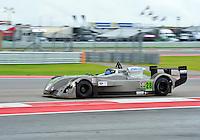 September 20, 2013: <br /> <br /> Don Yount (M) / Dallas, TX of Yount Racing driving #28 Elan DP-02 IMSA Prototype Lite 1 Cooper Tires Prototype Lites Championship Race #1 in Austin, TX.