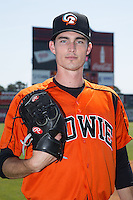 Bowie Baysox pitcher Tim Berry (20) poses for a photo prior to the game against the Richmond Flying Squirrels at The Diamond on May 25, 2015 in Richmond, Virginia.  (Brian Westerholt/Four Seam Images)
