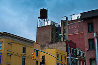 Old watretank on Manhattan old house roof