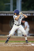 Michael Turconi (4) (Wake Forest) of the High Point-Thomasville HiToms at bat against the Wilson Tobs at Finch Field on July 17, 2020 in Thomasville, NC. The Tobs defeated the HiToms 2-1. (Brian Westerholt/Four Seam Images)