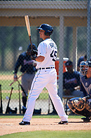 Detroit Tigers Colby Bortles (45) during a Minor League Spring Training game against the Atlanta Braves on March 22, 2018 at the TigerTown Complex in Lakeland, Florida.  (Mike Janes/Four Seam Images)