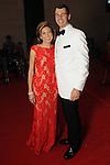 "Mark Hanson and his wife Christina at the 2016 Houston Symphony Gala ""Carnaval"" at Jones Hall Saturday May 14,2016(Dave Rossman Photo)"