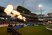 Pyrotechnics at Lords during London Spirit Men vs Trent Rockets Men, The Hundred Cricket at Lord's Cricket Ground on 29th July 2021