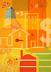 Illustrative representation showing home finances