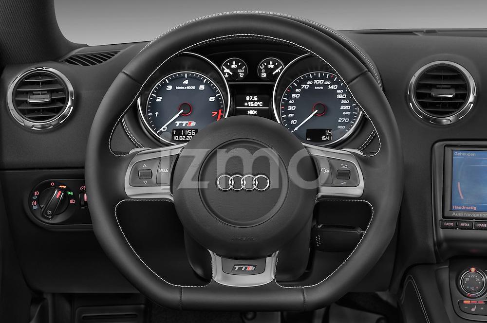 Steering wheel view of a 2008 - 2010 Audi TTS 3 Door Coupe 2WD
