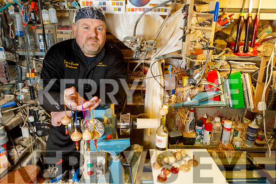 Dave Condon at his woodwork shop in Ballyard on Monday.
