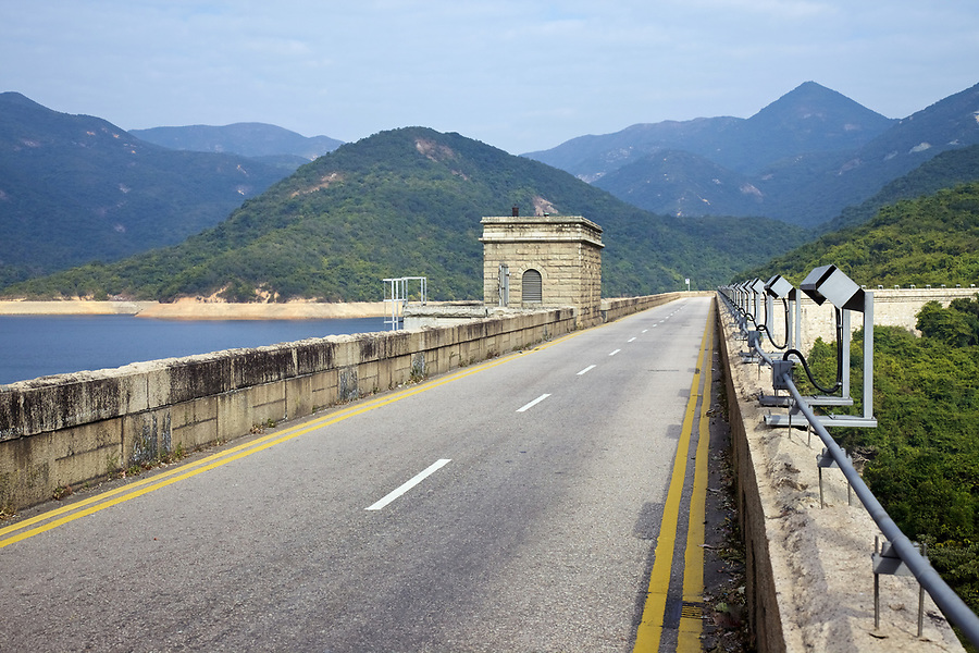 Valve house on the dam wall of the Tai Tam Tuk Reservoir (1918), Tai Tam Group of Reservoirs.<br /> <br /> Twenty-one structures (together with the Bowen Road aqueduct) make up he 88th Declared Monument on Hong Kong Island.