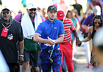 Spectators follow singer Justin Timberlake as he walks between holes in the final round of the American Century Championship at Edgewood Tahoe Golf Course in Stateline, Nev., on Sunday, July 19, 2015. <br /> Photo by Cathleen Allison