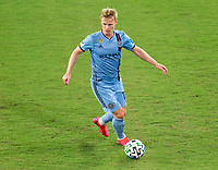 WASHINGTON, DC - SEPTEMBER 06: Gary Mackay-Steven #17 of New York City FC dribbles during a game between New York City FC and D.C. United at Audi Field on September 06, 2020 in Washington, DC.