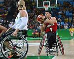 Cindy Ouellet, Rio 2016 - Wheelchair Basketball // Basketball en fauteuil roulant.<br /> The Canadian women's wheelchair basketball team plays Germany in the preliminaries // L'équipe canadienne féminine de basketball en fauteuil roulant affronte l'Allemagne dans la ronde préliminaire. 11/09/2016.