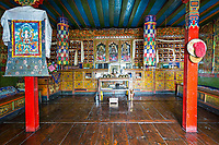 Inside of Khangba Nyingba which means old house, Namche Bazar, Nepal