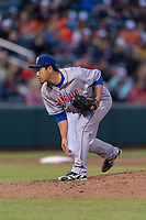 Amarillo Sod Poodles relief pitcher Kazuhisa Makita (18) during a Texas League game against the Springfield Cardinals on April 25, 2019 at Hammons Field in Springfield, Missouri. Springfield defeated Amarillo 8-0. (Zachary Lucy/Four Seam Images)
