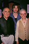 George Morfogen, Gale Harold and Austin Pendleton during the Opening Night of 'Uncle Bob' on April 23, 2001 at the SoHo Playhouse in New York City. <br />