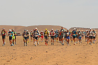 6th October 2021; Etape Mystere ;  Marathon des Sables, stage 4 of  a six-day, 251 km ultramarathon, which is approximately the distance of six regular marathons. The longest single stage is 82 km long. This multiday race is held every year in southern Morocco, in the Sahara Desert. The start of stage 4, 'Longest Day'