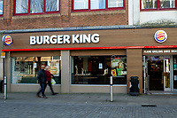 Pictured: A general view of Burger King in Swansea City Centre during the Covid-19 Coronavirus pandemic in Wales, UK, Swansea, Wales, UK. Monday 23 March 2020