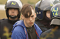 06/07/2005         Copyright Pic : James Stewart.File Name : sct_jspa25 g8 stirling.POLICE ARREST PROTESTERS AFTER THEY BLOCKED THE M9 MOTORWAY AT CAMBUSBARRON NEAR STIRLING....Payments to :.James Stewart Photo Agency 19 Carronlea Drive, Falkirk. FK2 8DN      Vat Reg No. 607 6932 25.Office     : +44 (0)1324 570906     .Mobile   : +44 (0)7721 416997.Fax         : +44 (0)1324 570906.E-mail  :  jim@jspa.co.uk.If you require further information then contact Jim Stewart on any of the numbers above.........