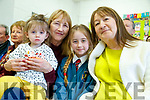 Amber Bowler, Joan Bowler, Riah Bowler and Phil Lynch, pictured at Grandparents day at Scoil Eoin, Balloonagh, Tralee on Tuesday last.