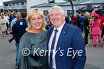 Enjoying the Ladies Day at the Listowel Races on Friday, l to r: Helen and Jim O'Connor from Tralee.