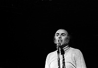 Gilles Vigneault en 1974 (date exacte inconnue)<br /> <br /> <br /> PHOTO D'ARCHIVE : Agence Quebec Presse