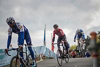 Tom Boonen (BEL/Quick-Step Floors) 'flying' over the bridge at the Tom Boonen farewell race/criterium 'Tom Says Thanks!' in Mol/Belgium