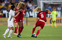 Carson, CA - Thursday August 03, 2017: Julie Ertz during a 2017 Tournament of Nations match between the women's national teams of the United States (USA) and Japan (JAP) at StubHub Center.