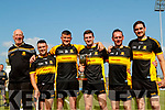 Gardai on the Dr Crokes squad after winning the Kerry County Intermediate Hurling Championship Final at Austin Stack Park in Tralee on Sunday, from left: Paul Downey, Mentor,  Mark Heffernan, Jamie Lenihan, Mike Milner Captain, Brendan McMahon and Colm Ó Cuiv.