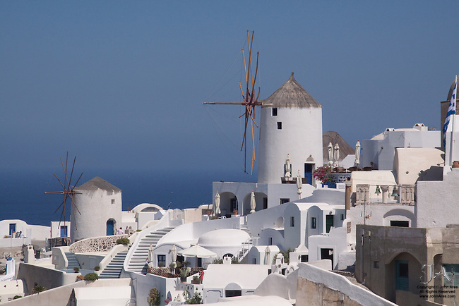 The famous windmills of Oia