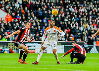 Hull City's forward Fraizer Campbell (25) has eyes on the ball during the Sky Bet Championship match between Sheff United and Hull City at Bramall Lane, Sheffield, England on 4 November 2017. Photo by Stephen Buckley / PRiME Media Images.
