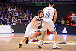 Real Madrid's Sergio Llull and Gustavo Ayon during Turkish Airlines Euroleage match between Real Madrid and EA7 Emporio Armani Milan at Wizink Center in Madrid, Spain. January 27, 2017. (ALTERPHOTOS/BorjaB.Hojas)