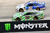 #18: Kyle Busch, Joe Gibbs Racing, Toyota Camry Interstate Batteries and #51: BJ McLeod, Petty Ware Racing, Ford Mustang JACOB COMPANIES