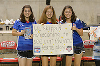 Chicago, IL - Saturday Sept. 24, 2016: fans after a regular season National Women's Soccer League (NWSL) match between the Chicago Red Stars and the Washington Spirit at Toyota Park.